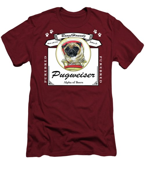 Pugweiser Beer Men's T-Shirt (Athletic Fit)