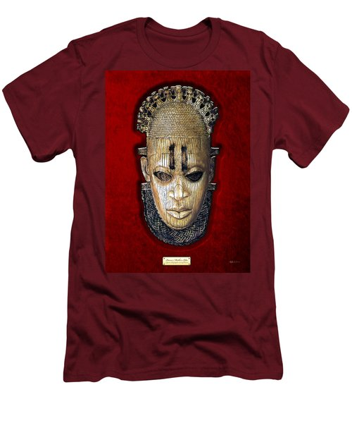 Queen Mother Idia - Ivory Hip Pendant Men's T-Shirt (Slim Fit) by Serge Averbukh