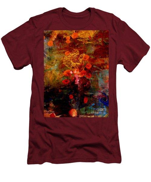 Radiant Red Men's T-Shirt (Slim Fit) by Nancy Kane Chapman