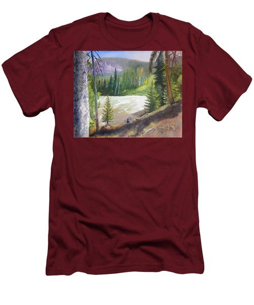 Raging River Men's T-Shirt (Slim Fit) by Sherril Porter
