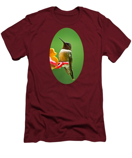 Rainy Day Hummingbird Men's T-Shirt (Slim Fit) by Christina Rollo