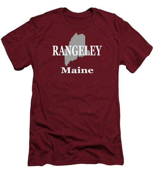 Rangeley Maine State City And Town Pride  Men's T-Shirt (Slim Fit) by Keith Webber Jr