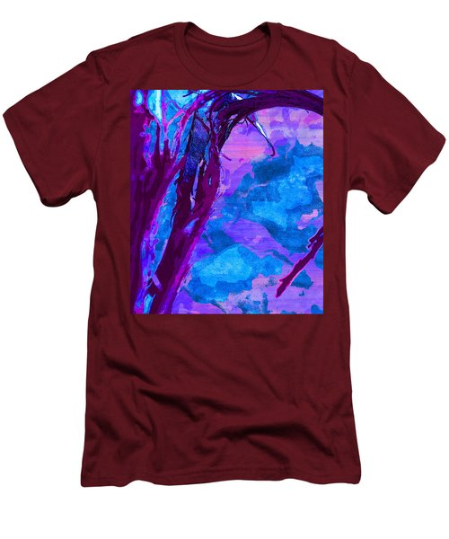 Reaching Into Blue Men's T-Shirt (Slim Fit) by Samantha Thome