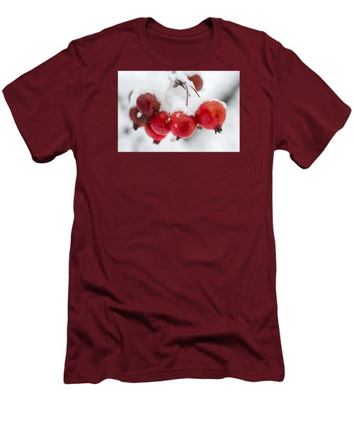 Men's T-Shirt (Slim Fit) featuring the photograph Red And White by Sebastian Musial