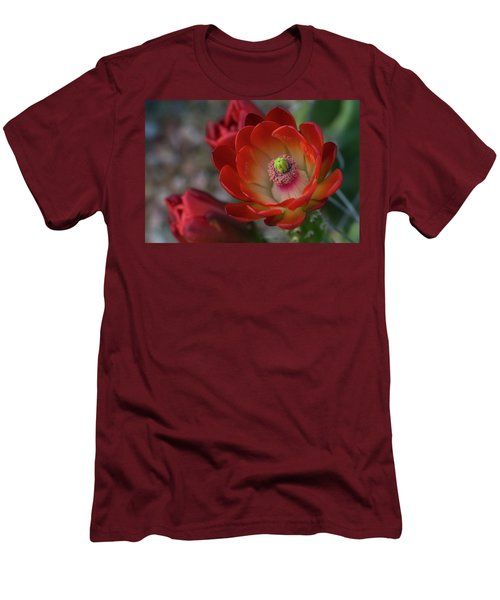 Men's T-Shirt (Slim Fit) featuring the photograph Red Beauty  by Saija Lehtonen