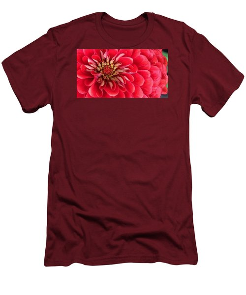 Red Explosion Men's T-Shirt (Slim Fit) by Bruce Bley