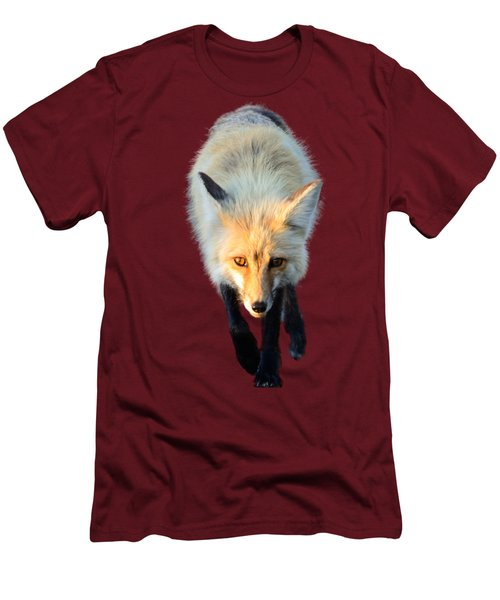 Red Fox Shirt Men's T-Shirt (Slim Fit) by Greg Norrell