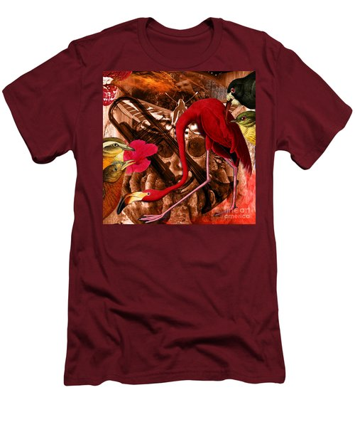 Red Hot Soul Music Men's T-Shirt (Slim Fit) by Joseph Mosley