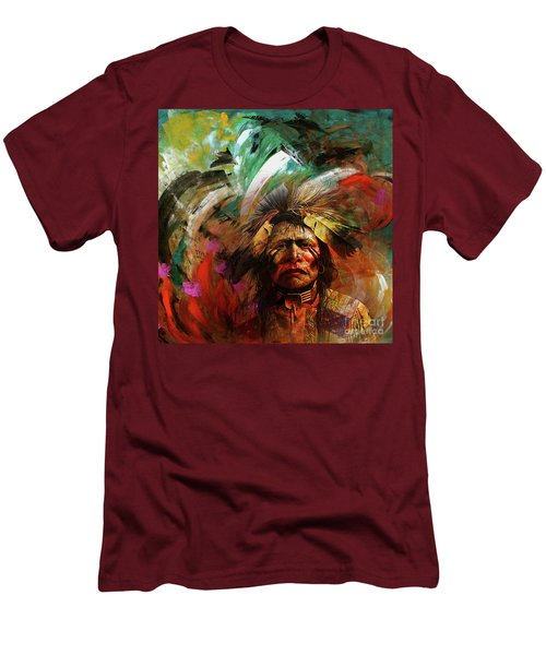 Red Indians 02 Men's T-Shirt (Athletic Fit)
