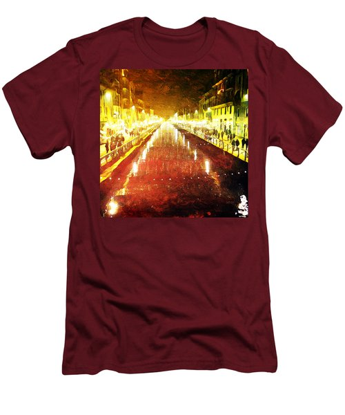 Red Naviglio Men's T-Shirt (Athletic Fit)