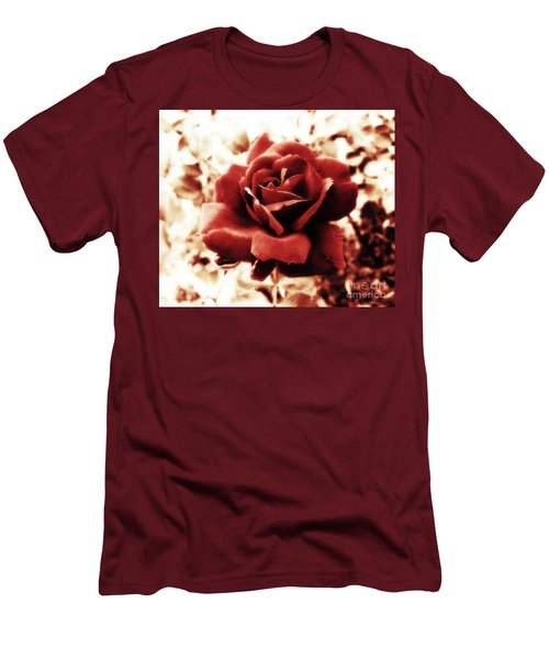 Red Petals Men's T-Shirt (Athletic Fit)
