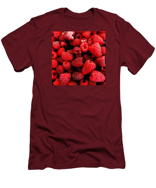 Red Raspberries Men's T-Shirt (Athletic Fit)