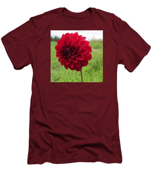Men's T-Shirt (Slim Fit) featuring the photograph Red, Red, Red by Jeanette Oberholtzer