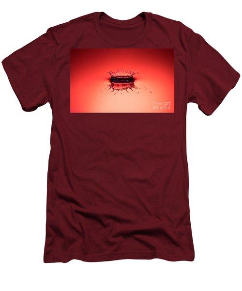 Red Splashdown Men's T-Shirt (Athletic Fit)