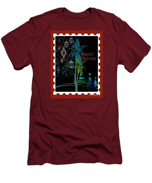 Men's T-Shirt (Slim Fit) featuring the digital art Red Stamp by Megan Dirsa-DuBois