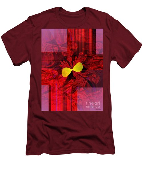 Red Transparency Men's T-Shirt (Slim Fit) by Thibault Toussaint