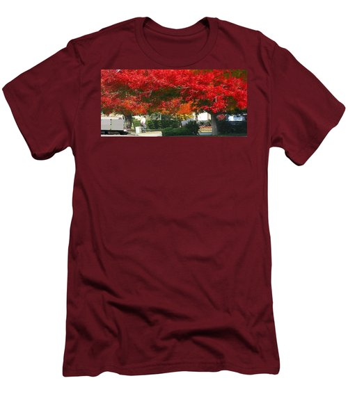 Red Trees Men's T-Shirt (Slim Fit)