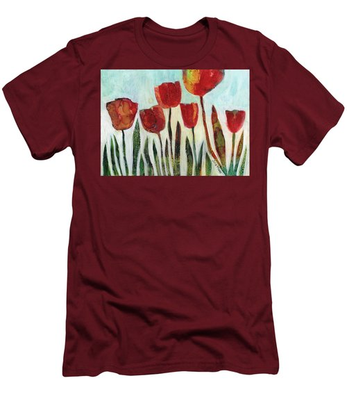 Red Tulips Men's T-Shirt (Athletic Fit)