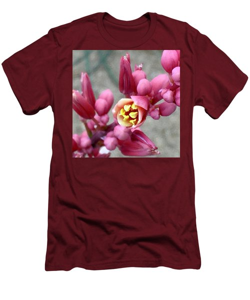 Red Yucca Macro Men's T-Shirt (Slim Fit) by Russell Keating