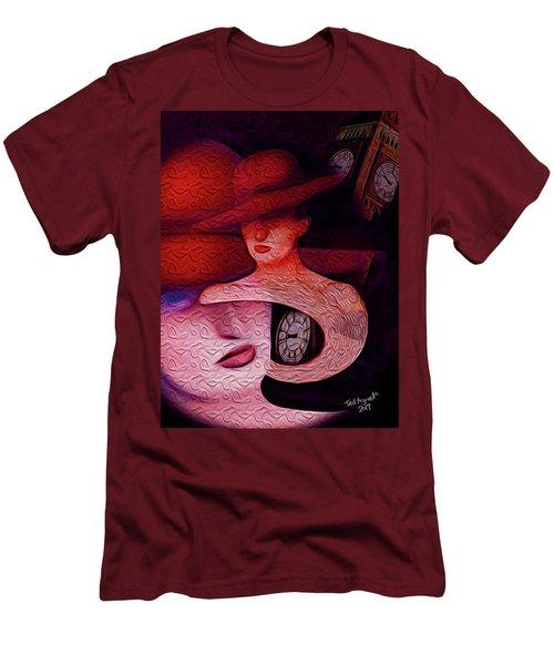 Rendezvous At Big Ben Men's T-Shirt (Slim Fit) by Ted Azriel