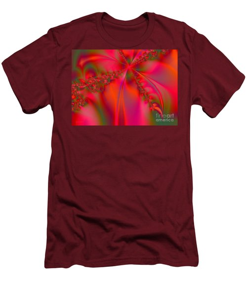 Rhapsody In Red Men's T-Shirt (Slim Fit) by Robert ONeil