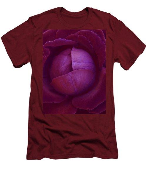 Rich Purple Lettuce Rose Men's T-Shirt (Athletic Fit)