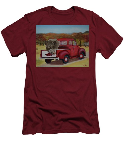 Ridin' With Razorbacks Men's T-Shirt (Slim Fit) by Belinda Nagy