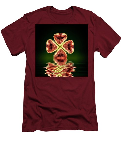 Men's T-Shirt (Slim Fit) featuring the photograph Ripe Juicy Figs Fruit by David French