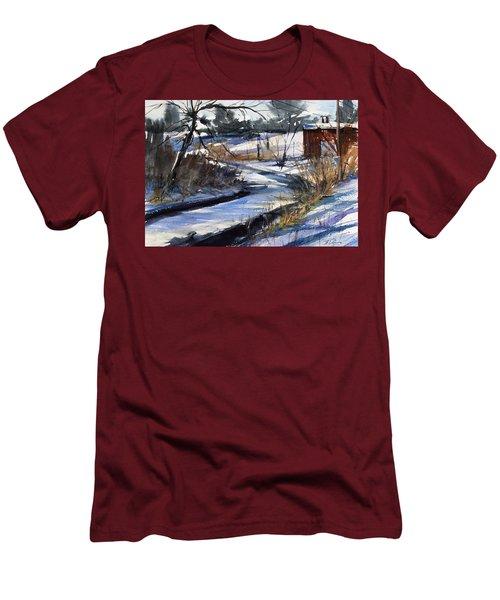 Rippleton Road River Men's T-Shirt (Slim Fit) by Judith Levins