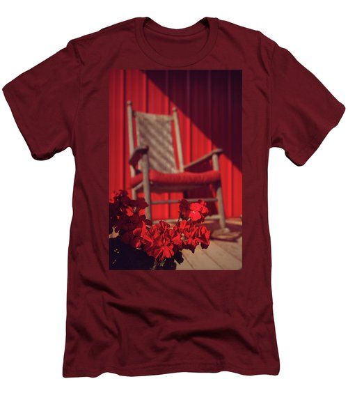 Men's T-Shirt (Slim Fit) featuring the photograph Rockin' Red by Jessica Brawley