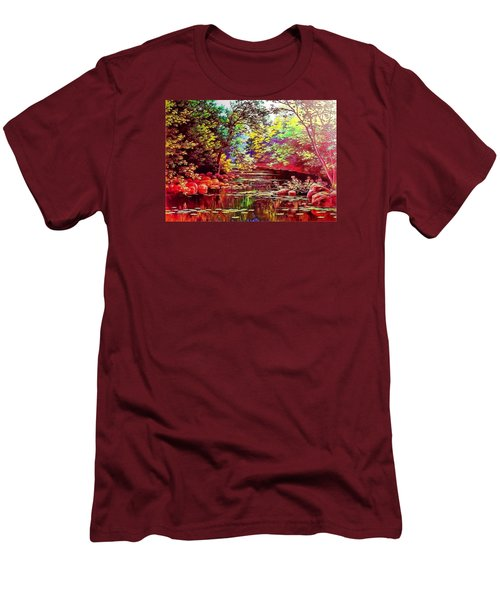 Rocky Rainbow River Men's T-Shirt (Athletic Fit)