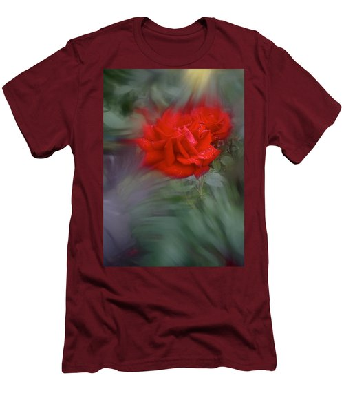 Men's T-Shirt (Slim Fit) featuring the photograph Rose Aug 2016 by Richard Cummings