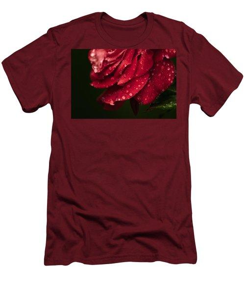 Rose Men's T-Shirt (Slim Fit) by Craig Szymanski