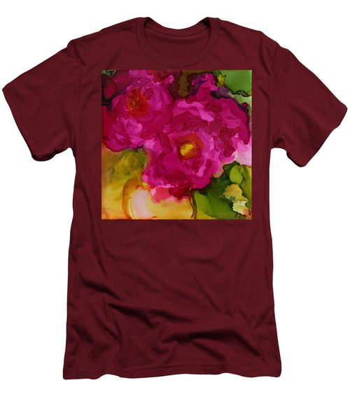 Rose To The Occation Men's T-Shirt (Slim Fit) by Joanne Smoley