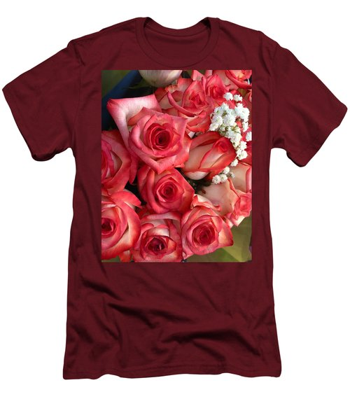 Roses For God Men's T-Shirt (Slim Fit) by Carlos Avila