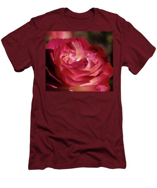 Rosy Closeup Men's T-Shirt (Athletic Fit)