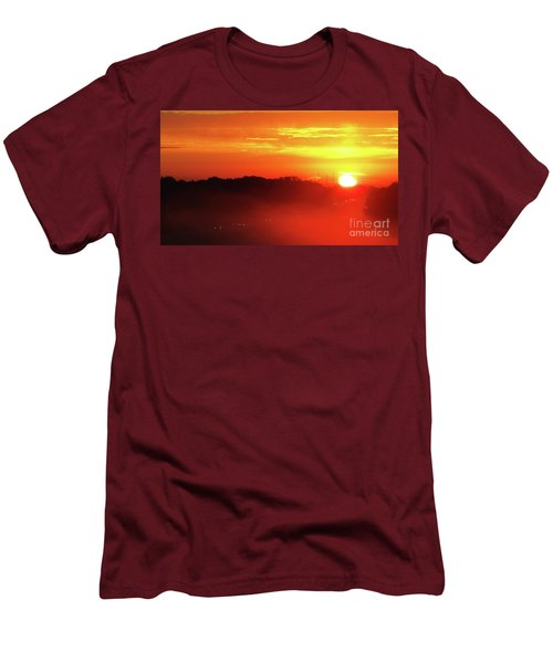 Rush Hour Begins At Sunrise I 94 To Madison Wisconsin Men's T-Shirt (Athletic Fit)