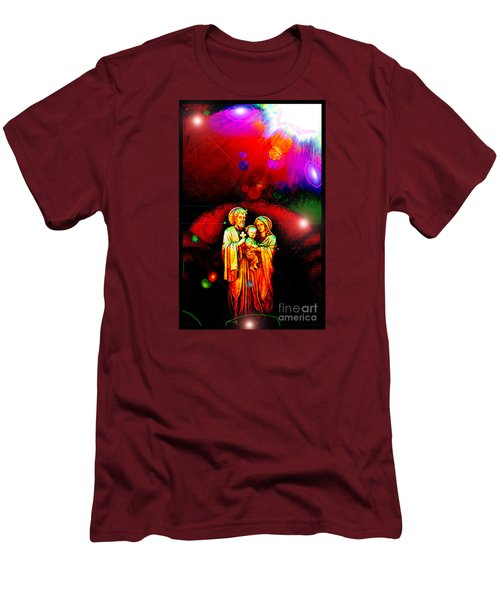 Sacred Family In Cosmos Men's T-Shirt (Slim Fit) by Susanne Still