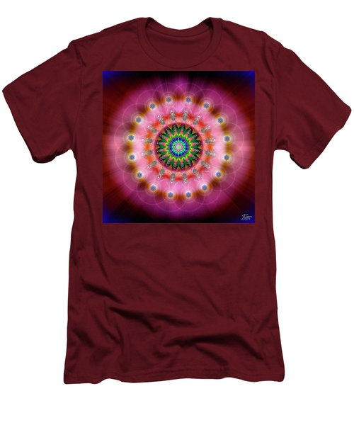 Sacred Geometry 644 Men's T-Shirt (Slim Fit) by Endre Balogh