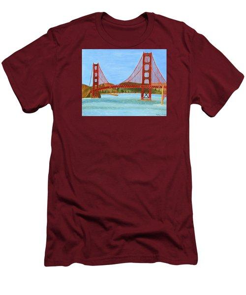 San Francisco Bridge  Men's T-Shirt (Slim Fit) by Magdalena Frohnsdorff