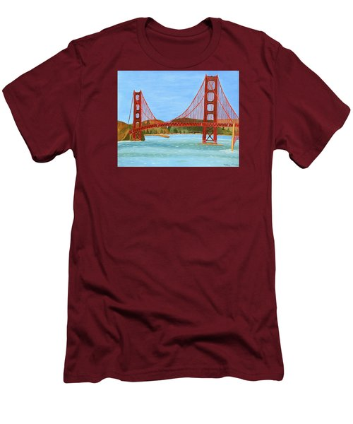 San Francisco Bridge  Men's T-Shirt (Athletic Fit)