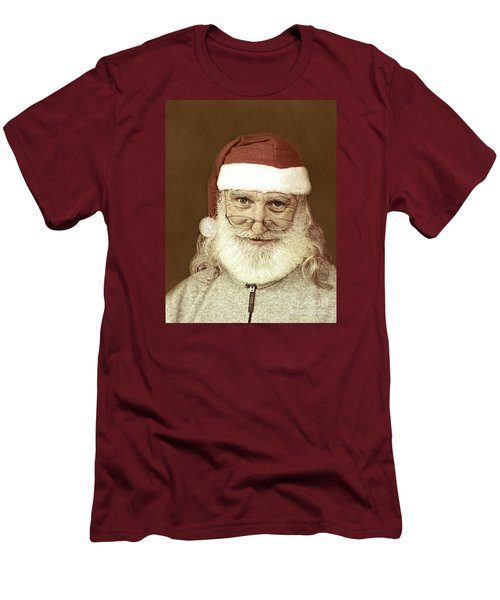 Santa's Day Off Men's T-Shirt (Slim Fit) by Linda Phelps