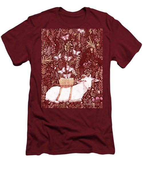 Men's T-Shirt (Slim Fit) featuring the digital art Scapegoat Healing Tapestry Print by Lise Winne