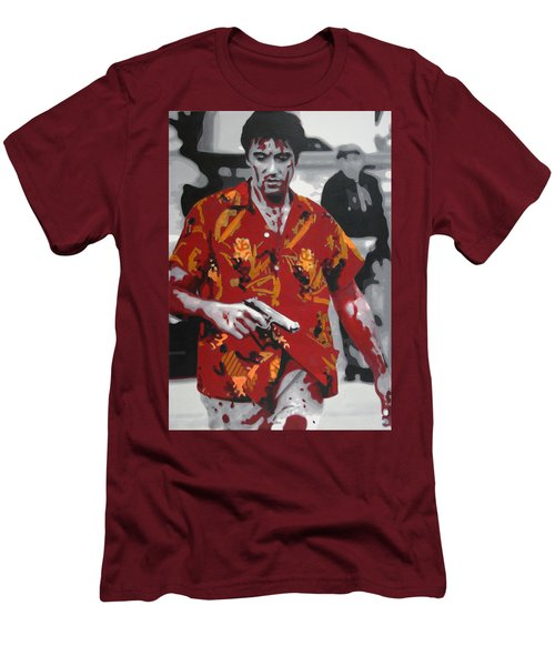 Scarface 2013 Men's T-Shirt (Slim Fit) by Luis Ludzska