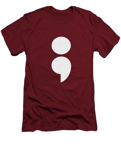 Semicolon 011 Men's T-Shirt (Athletic Fit)