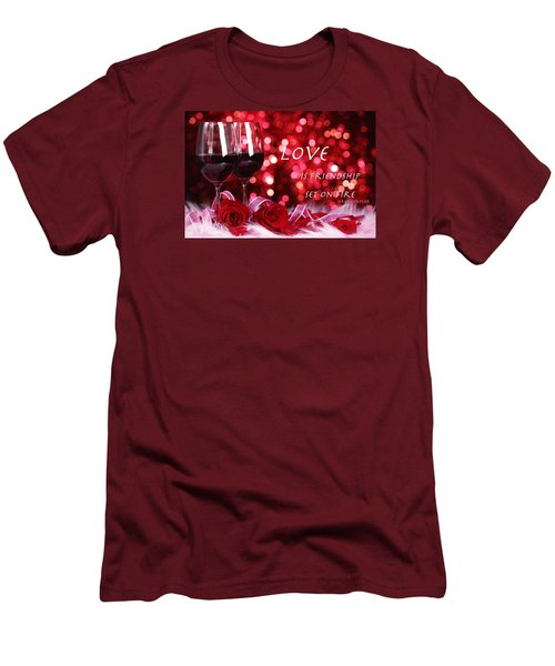 Men's T-Shirt (Slim Fit) featuring the photograph Set On Fire by David Norman