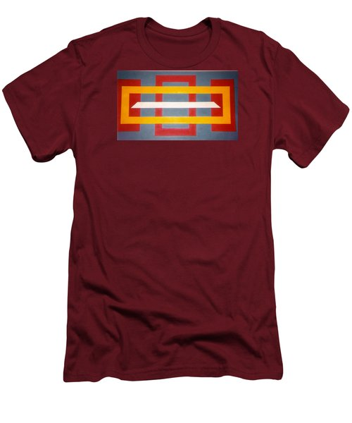 Men's T-Shirt (Slim Fit) featuring the painting Shapes by James McAdams