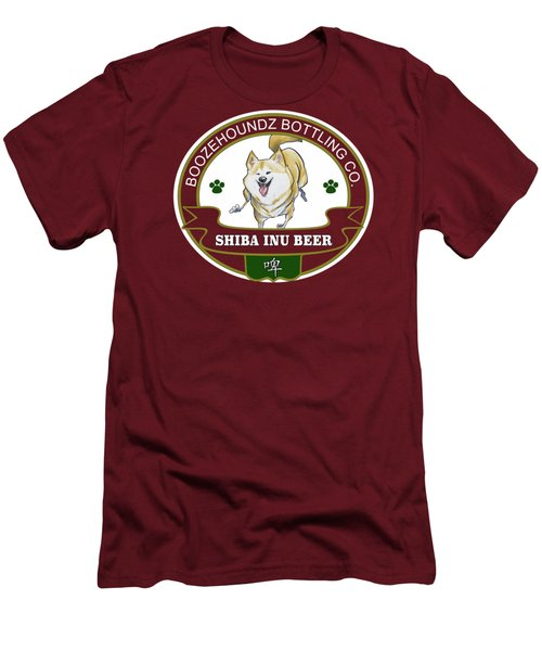 Shiba Inu Beer Men's T-Shirt (Athletic Fit)