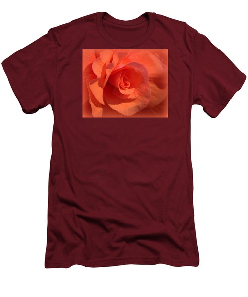 Soft Begonia Men's T-Shirt (Slim Fit) by AJ  Schibig