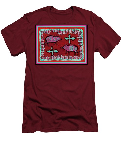 Men's T-Shirt (Athletic Fit) featuring the digital art Southwest Desert Javelina by Vagabond Folk Art - Virginia Vivier